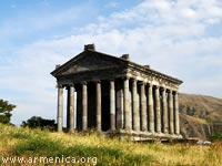 Garni Pagan Temple and surrounding area