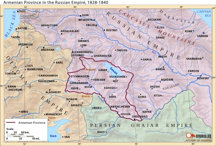 Armenian province in the Russian Empire, 1828-1840